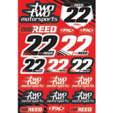 Factory Effex Reed Two Two Motorsports Sticker Sheet