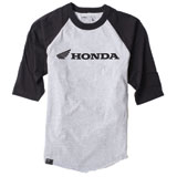 Factory Effex Honda Baseball T-Shirt Grey/Black