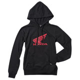Factory Effex Women's Honda Wing Hooded Pullover Sweatshirt Black