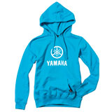 Factory Effex Women's Yamaha Stacked Hooded Pullover Sweatshirt Aquamarine