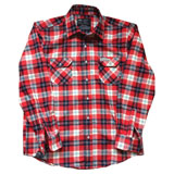 Factory Effex Honda Flannel Long Sleeve Button Up Shirt