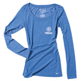 Factory Effex Women's Yamaha Tuning Fork Long Sleeve T-Shirt  Royal