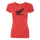 Factory Effex Women's Honda Wing T-Shirt  Vintage Red