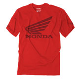 Factory Effex Honda Big Wing T-Shirt  Red