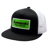 Factory Effex Kawasaki Team Green Snapback Hat Black/White