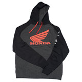 Factory Effex Honda Wing Hooded Pullover Sweatshirt Charcoal/Black
