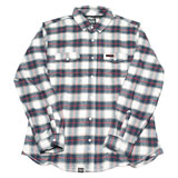 Factory Effex Honda 2.0 Flannel Long Sleeve Button Up Shirt Red/White