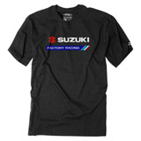 Factory Effex Suzuki Factory Racing T-Shirt Heather Black