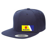 Factory Effex Suzuki Wedge Snapback Hat Navy