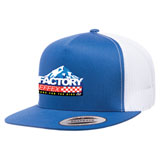 Factory Effex FX Peaked Snapback Trucker Hat Royal/White