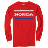 Factory Effex Honda Stripes Long Sleeve T-Shirt Red