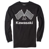 Factory Effex Kawasaki Checker Long Sleeve T-Shirt Black