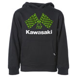 Factory Effex Youth Kawasaki Finishline Hooded Sweatshirt Black
