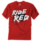 Factory Effex Youth Honda Splatter T-Shirt Red