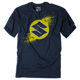 Factory Effex Youth Suzuki Overspray T-Shirt Navy