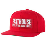 FastHouse Blockhouse Hat Red