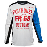 FastHouse Worx 68 Jersey White/Blue