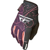 Fly Racing Girl's Youth Kinetic Gloves 2015