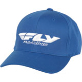 Fly Racing Podium Flex Fit Hat Blue