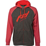 Fly Racing Raglan Zip-Up Hooded Sweatshirt