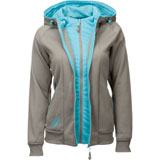 Fly Racing Women's Track Zip-Up Hooded Sweatshirt