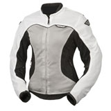 Fly Street Women's Flux Air Mesh Jacket White/Silver