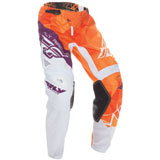 Fly Racing Youth Kinetic Crux Pants Orange/Purple
