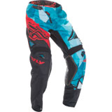 Fly Racing Youth Kinetic Crux Pants Teal/Red
