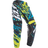 Fly Racing Youth Kinetic Relapse Pants Lime/Blue