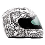 Fly Street Revolt FS Ink 'N Needle Helmet White/Black