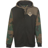 Fly Racing Patch Zip-Up Hooded Sweatshirt