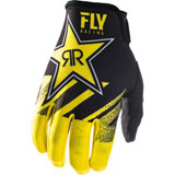 Fly Racing Lite Rockstar 18.5 Gloves Yellow/Black