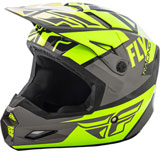 Fly Racing Elite Guild Helmet Hi-Vis/Grey/Black