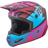 Fly Racing Elite Guild Helmet Matte Neon Pink/Blue/Black