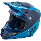 Fly Racing F2 Carbon Rewire Helmet Navy Blue/Light Blue
