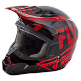 Fly Racing Kinetic Burnish Helmet Black/Red/Orange