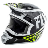 Fly Racing Kinetic Burnish Helmet Black/White/Hi-Vis