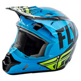 Fly Racing Kinetic Burnish Helmet Blue/Black/Hi-Vis