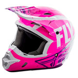 Fly Racing Kinetic Burnish Helmet Neon Pink/White/Purple