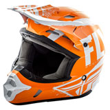 Fly Racing Kinetic Burnish Helmet Orange/White/Grey