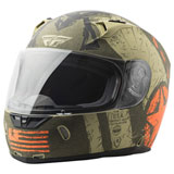 Fly Street Revolt Liberator Helmet Matte Brown/Orange