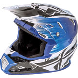 Fly Racing Youth Toxin Resin MIPS Helmet Black/Blue