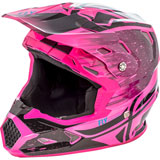 Fly Racing Toxin Resin w/MIPS Helmet Black/Neon Pink