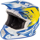 Fly Racing Toxin Resin w/MIPS Helmet White/Yellow/Blue