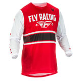 Fly Racing Kinetic Mesh 18.5 Jersey Red/White/Black