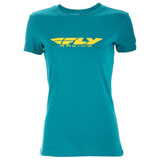 Fly Racing Women's Corporate T-Shirt Teal
