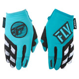 Fly Racing Girl's Youth Kinetic Gloves