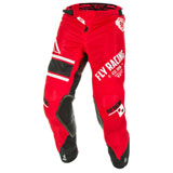 Fly Racing Kinetic Mesh 18.5 Pants Red/White/Black