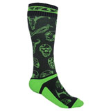 Fly Racing Thin MX Pro Socks Green/Black