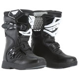 Fly Racing Youth Maverik MX Boots Black/White